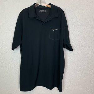 Nike golf dri-fit polo shirt black size XL EUC